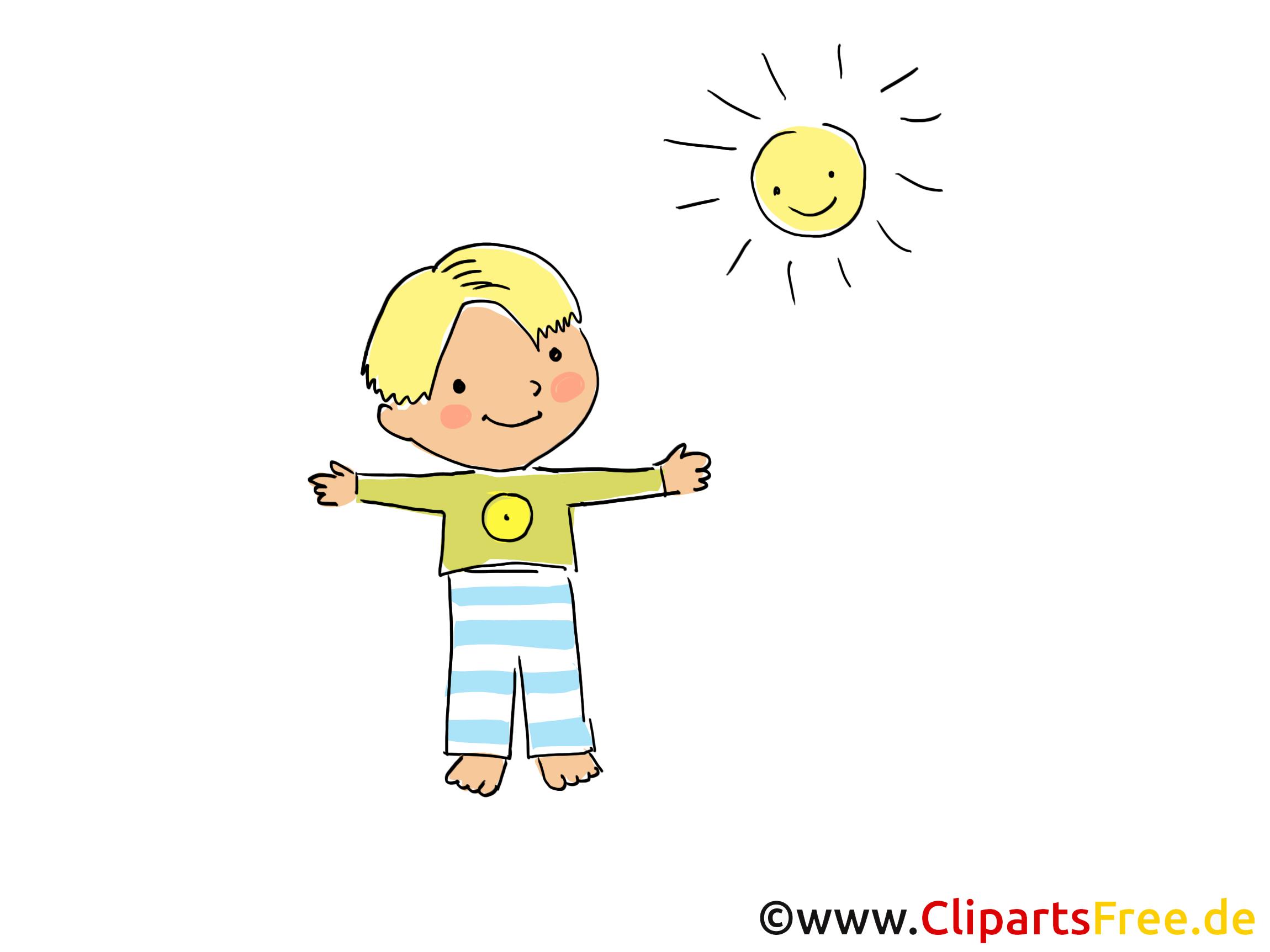 Sonne clipart gratis  Junge und Sonne Bild, Clipart, Cartoon, Grafik, Comic gratis