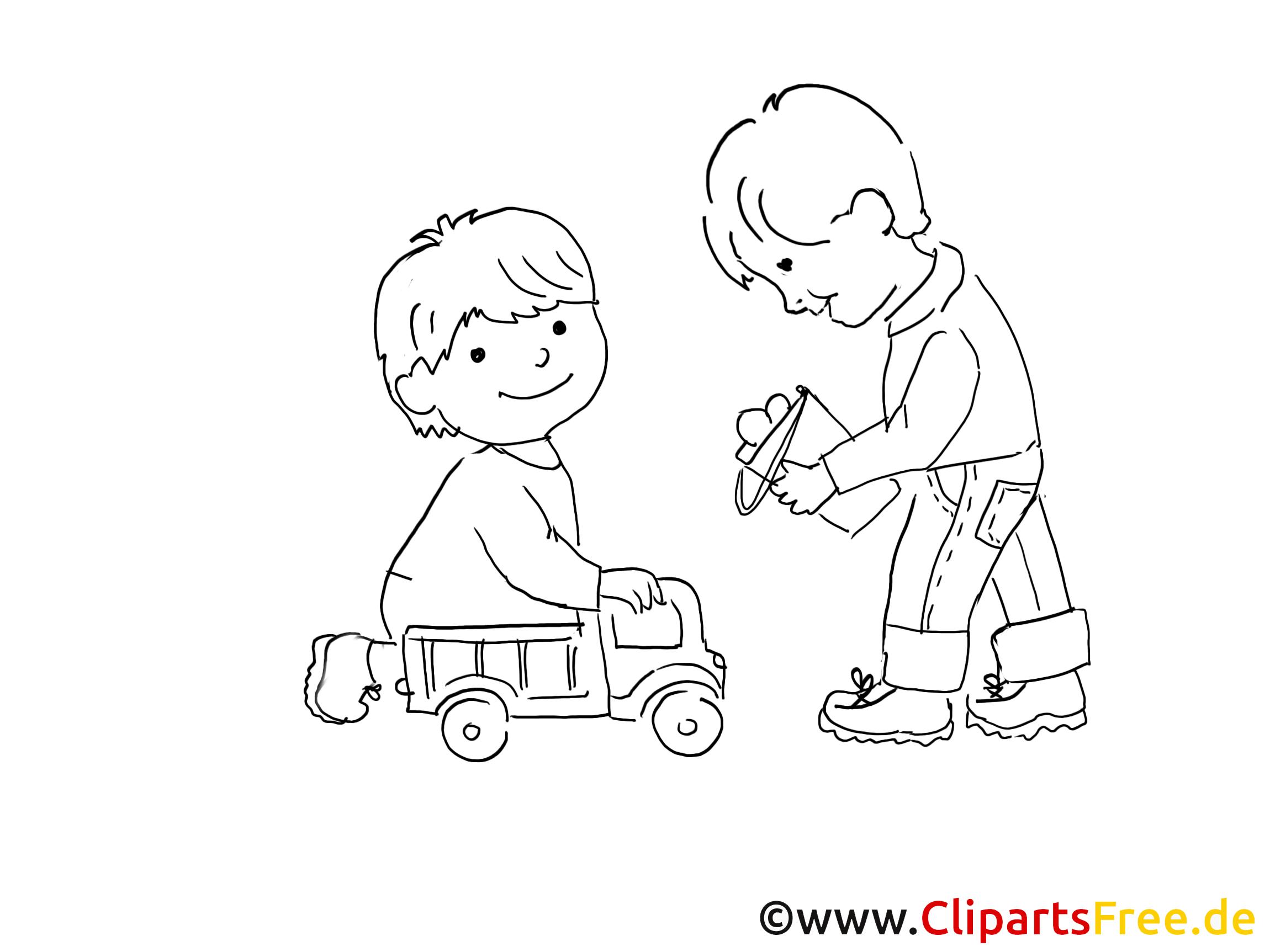 kinder im kindergarten zeichnung bild schwarz weiss clipart comic cartoon kostenlos. Black Bedroom Furniture Sets. Home Design Ideas