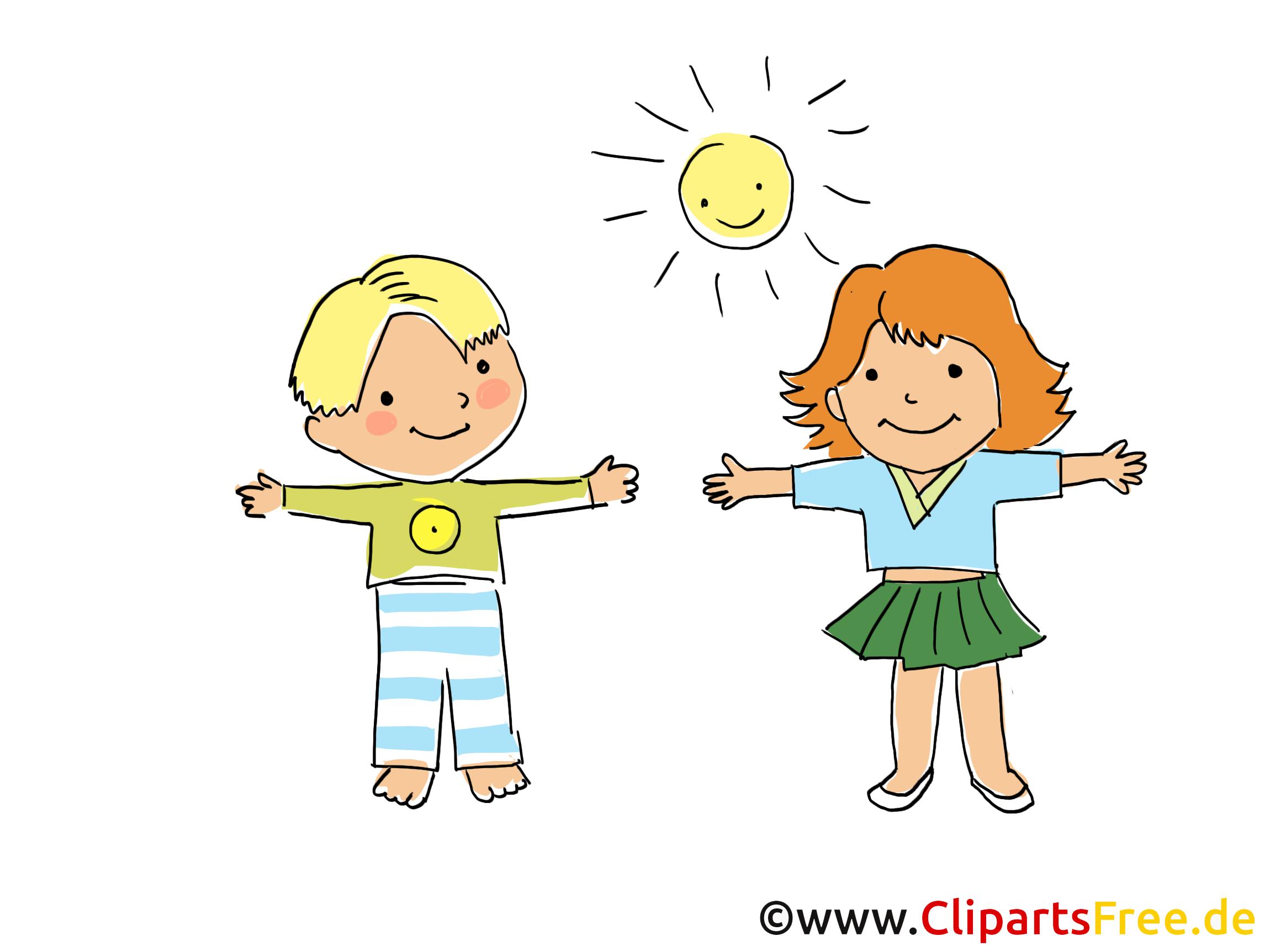 Kinder treiben Sport Bild, Clipart, Cartoon, Grafik, Comic gratis