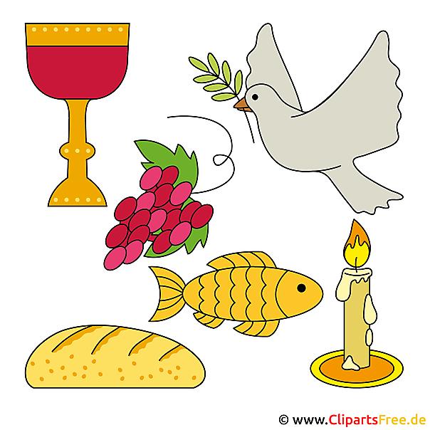 無料のクリップアートデザインで聖体拝領への招待状を作成する