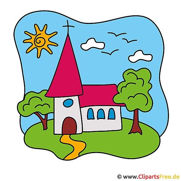 Kirche Clipart Bild Einladungskarten Fur Kommunion Selbst Gestalten