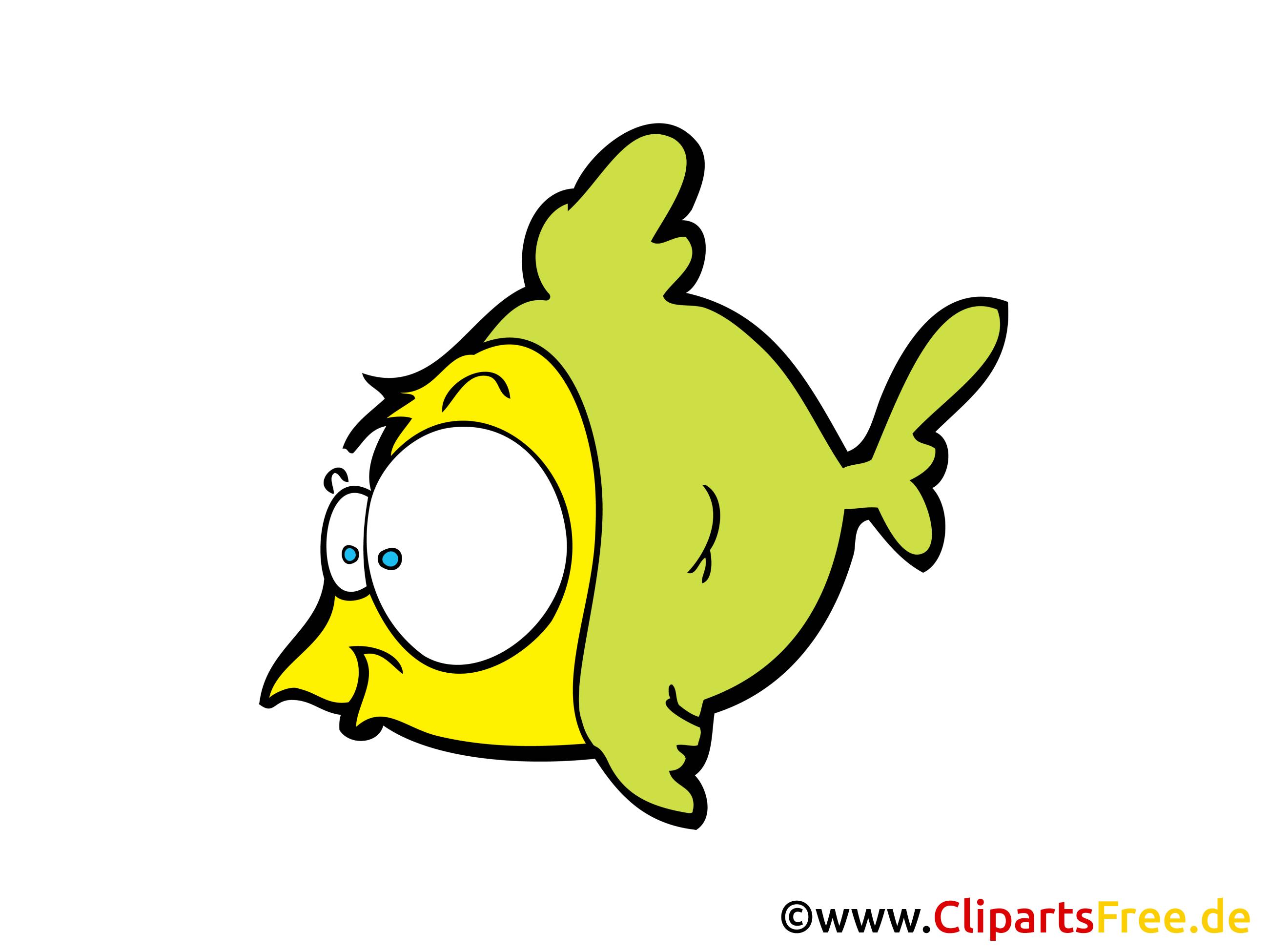 Comic fisch clipart cartoon bild gratis for Fisch bilder