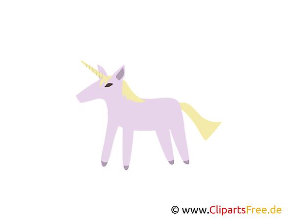 Eenhoorn voor prinses clipart, foto, cartoon