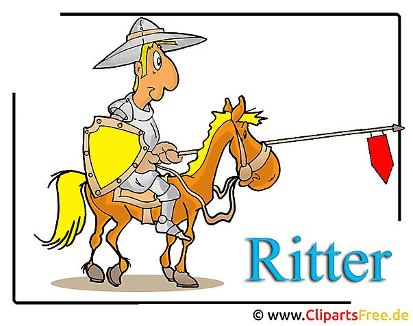 Ridder cartoon illustraties gratis
