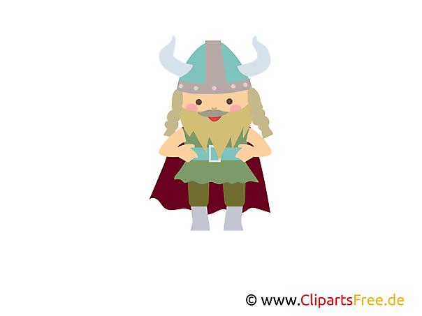 Vikingen gratis clipart, afbeelding, illustratie, grafisch