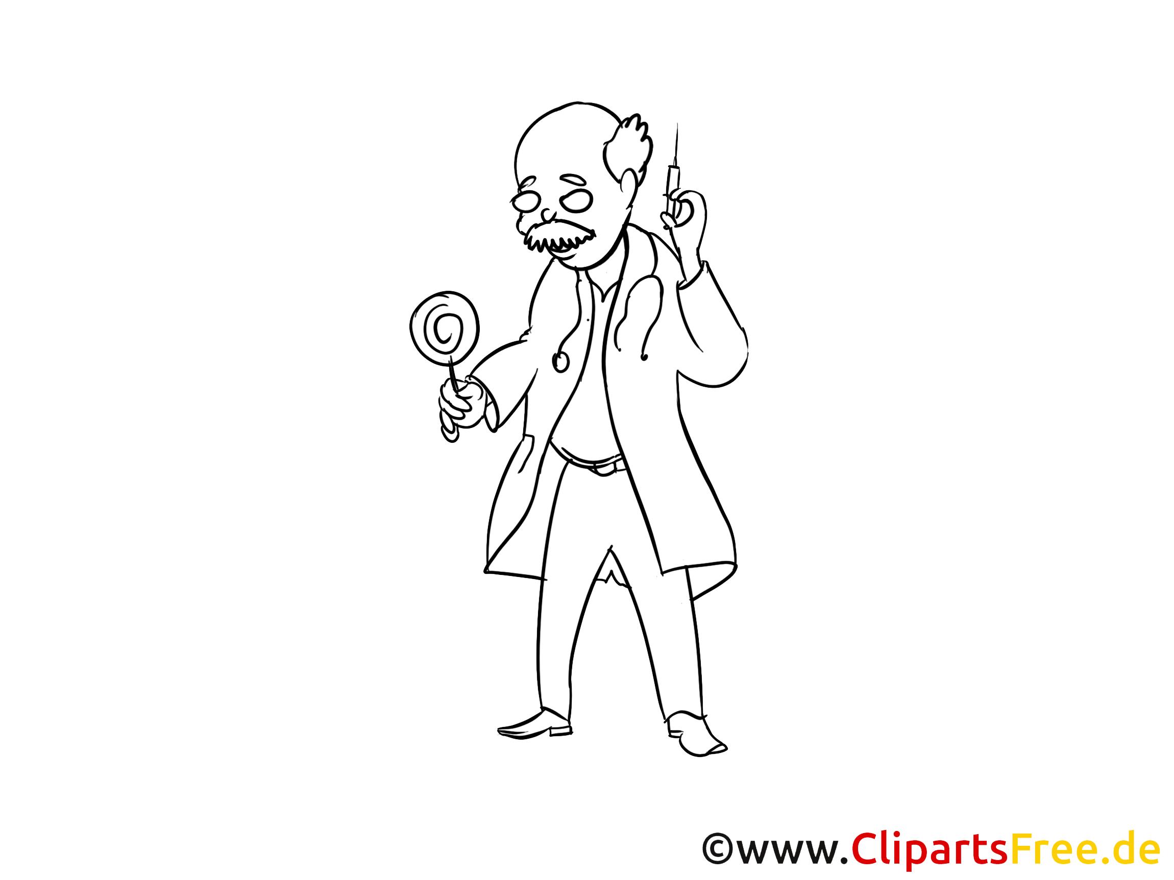 Erfahrener Arzt Zecihnung, Clipart, Bild, Cartoon