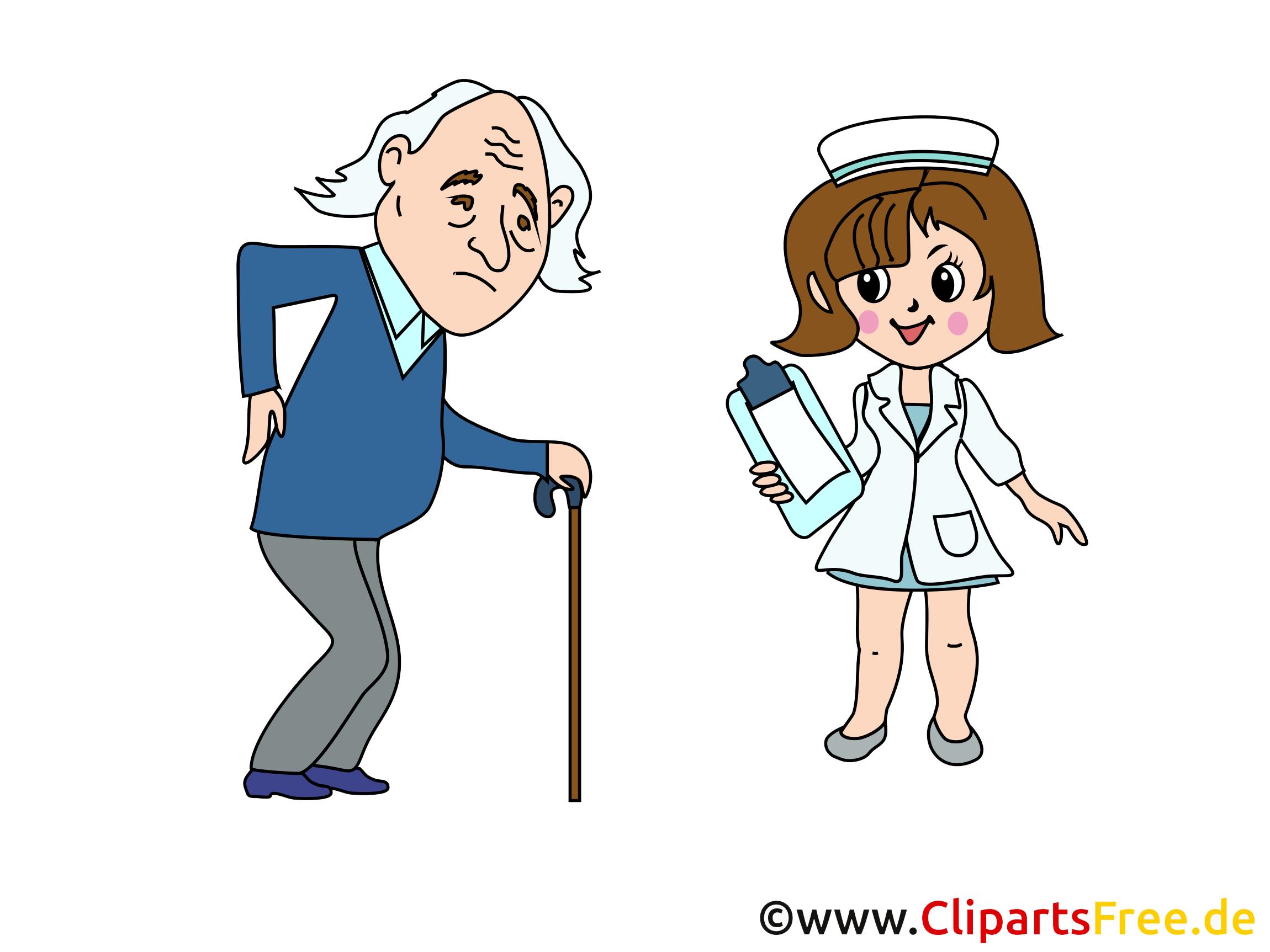 Krankenkasse Cartoon, Bild, Clipart