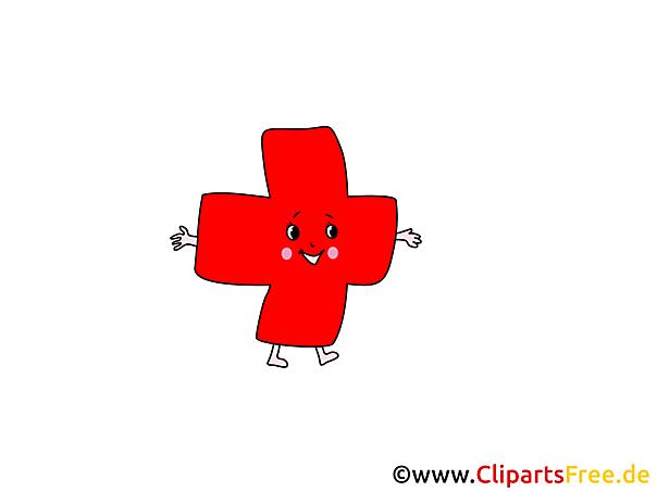Kreuz rot Medizin Cliparts, Bilder, Grafiken