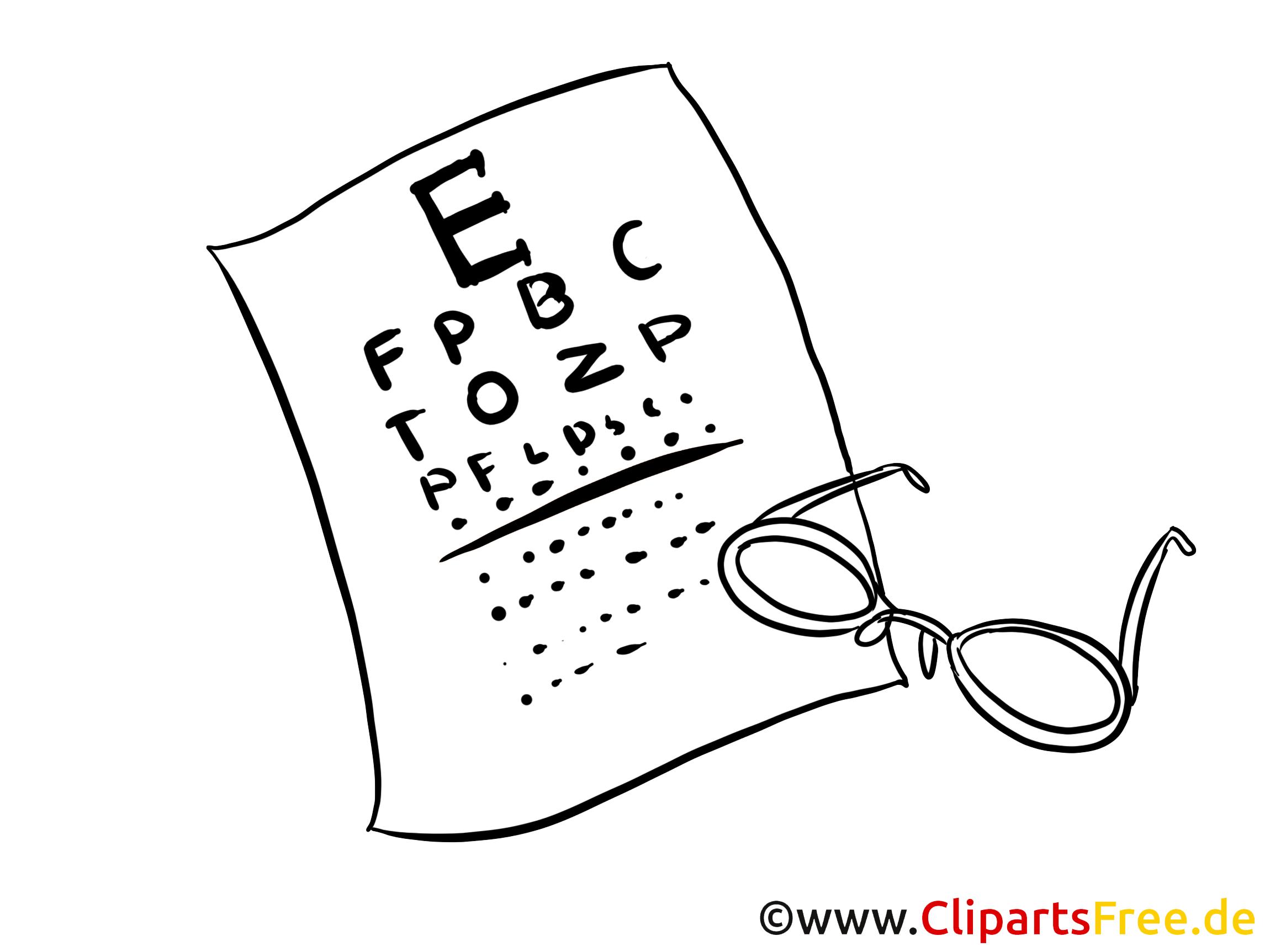 Medizinbilder Sehtest beim Augenarzt