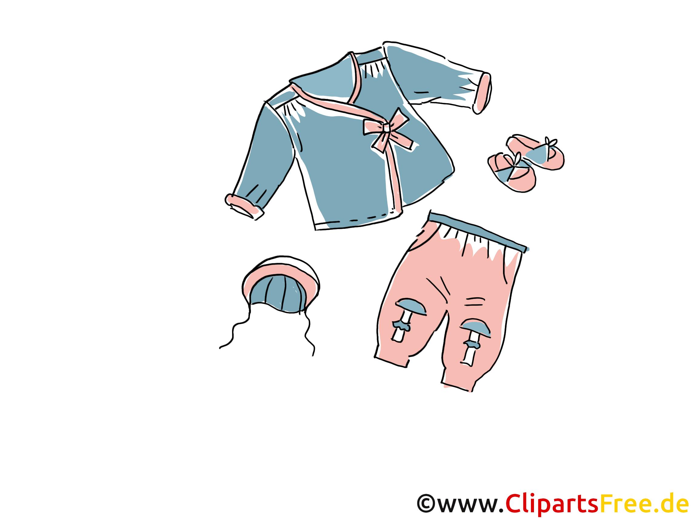 Kinder Mode Clipart, Bild, Illustration, Grafik,  Image kostenlos