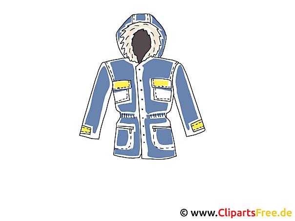 Winterjacke Clipart
