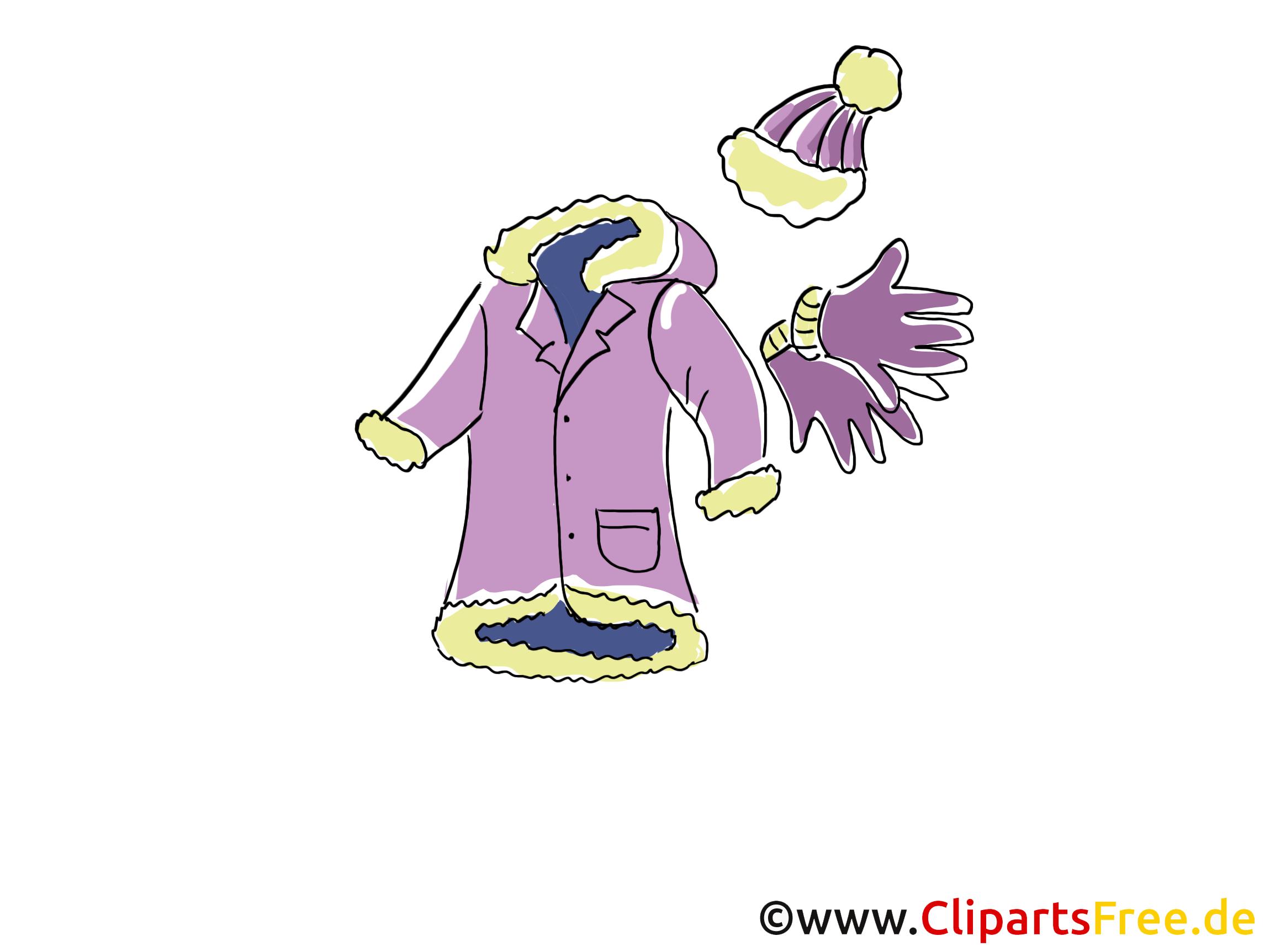 Winterkleidung Clipart, Bild, Illustration, Grafik,  Image kostenlos