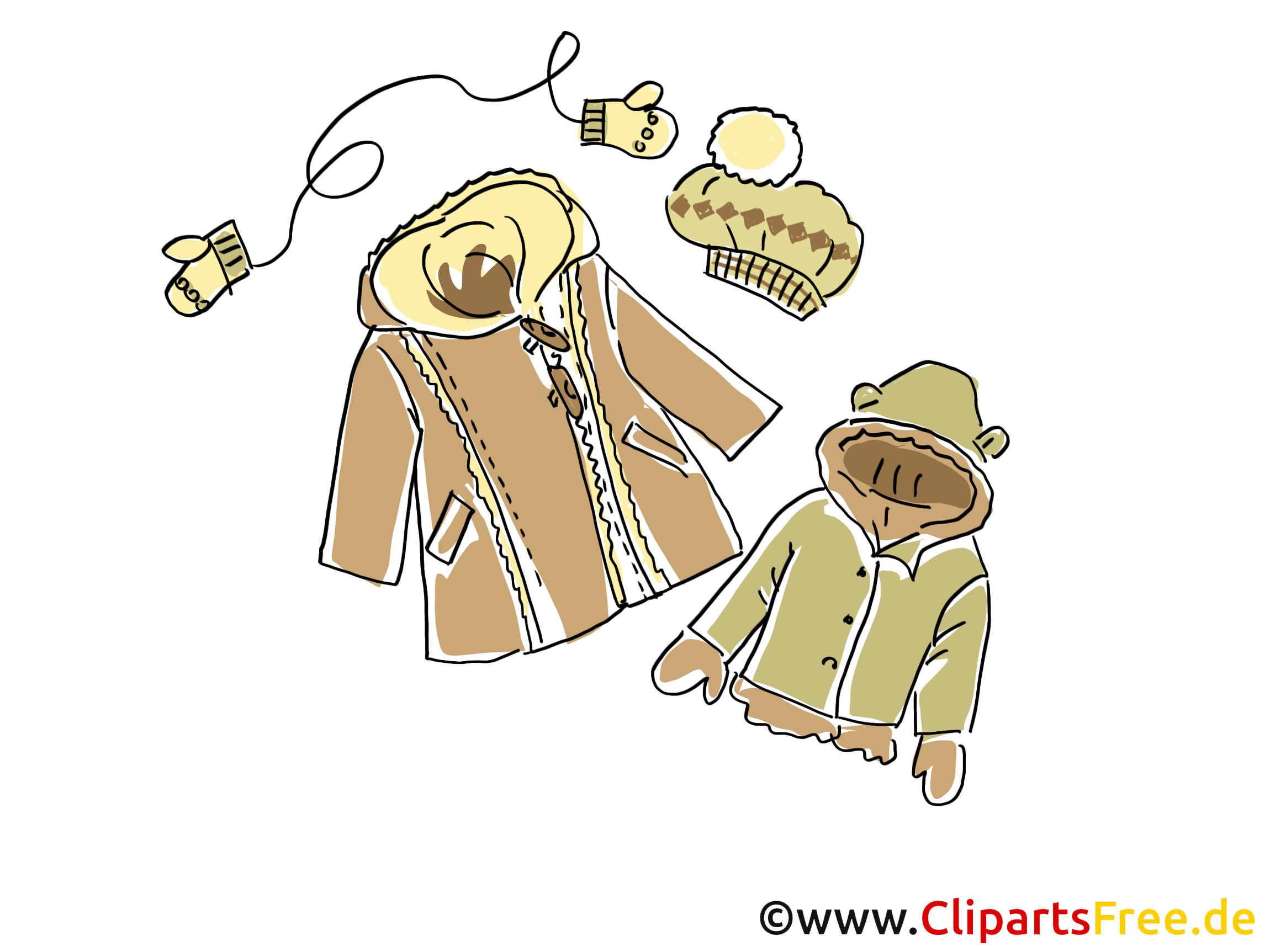 Winterkleidung fuer Kinder Clipart, Bild, Illustration, Grafik ...
