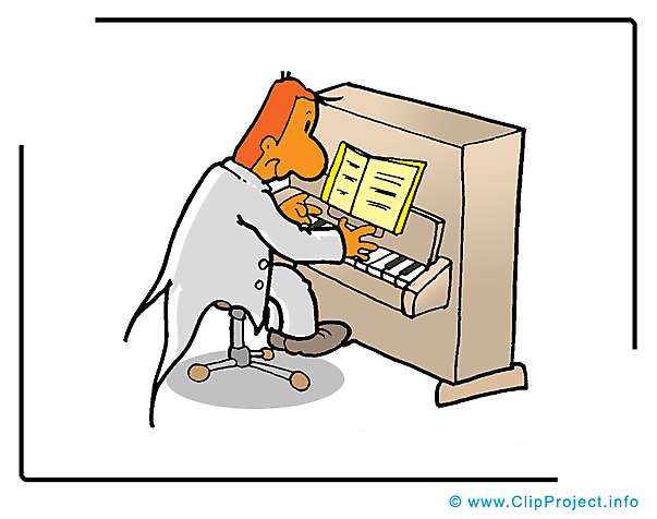 Klavier Cartoon Bild-Clipart free