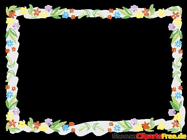 Blumenrahmen für Fotos und Bilder