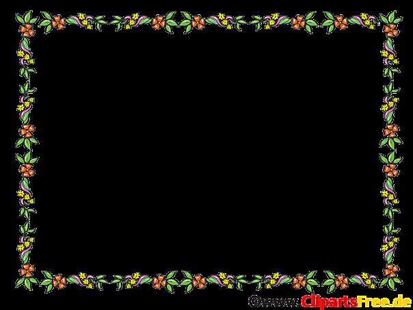 Blumenranken Bilder-Rahmen