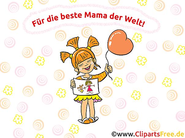 Glückwunschkarte für Mama zum Muttertag