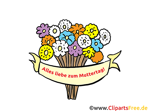 Grußkarte zum Muttertag - Alles liebe zum Muttertag