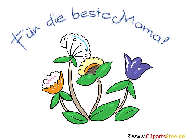 Karte zum Muttertag mit Blumen