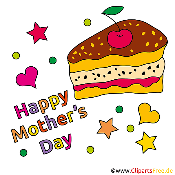 Kuchen zum Muttertag Clipart