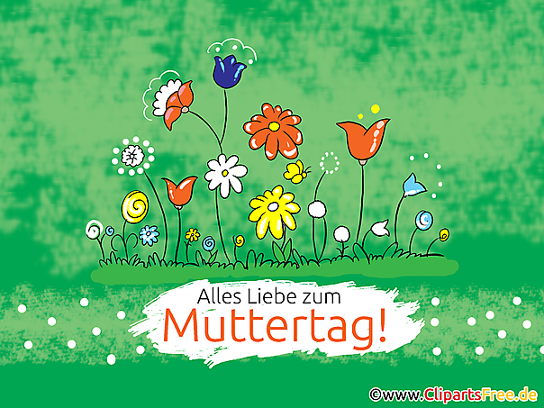 Mothers day greetings in German language