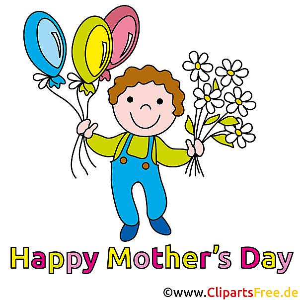 Muttertagsgeschenke basteln mit Cliparts