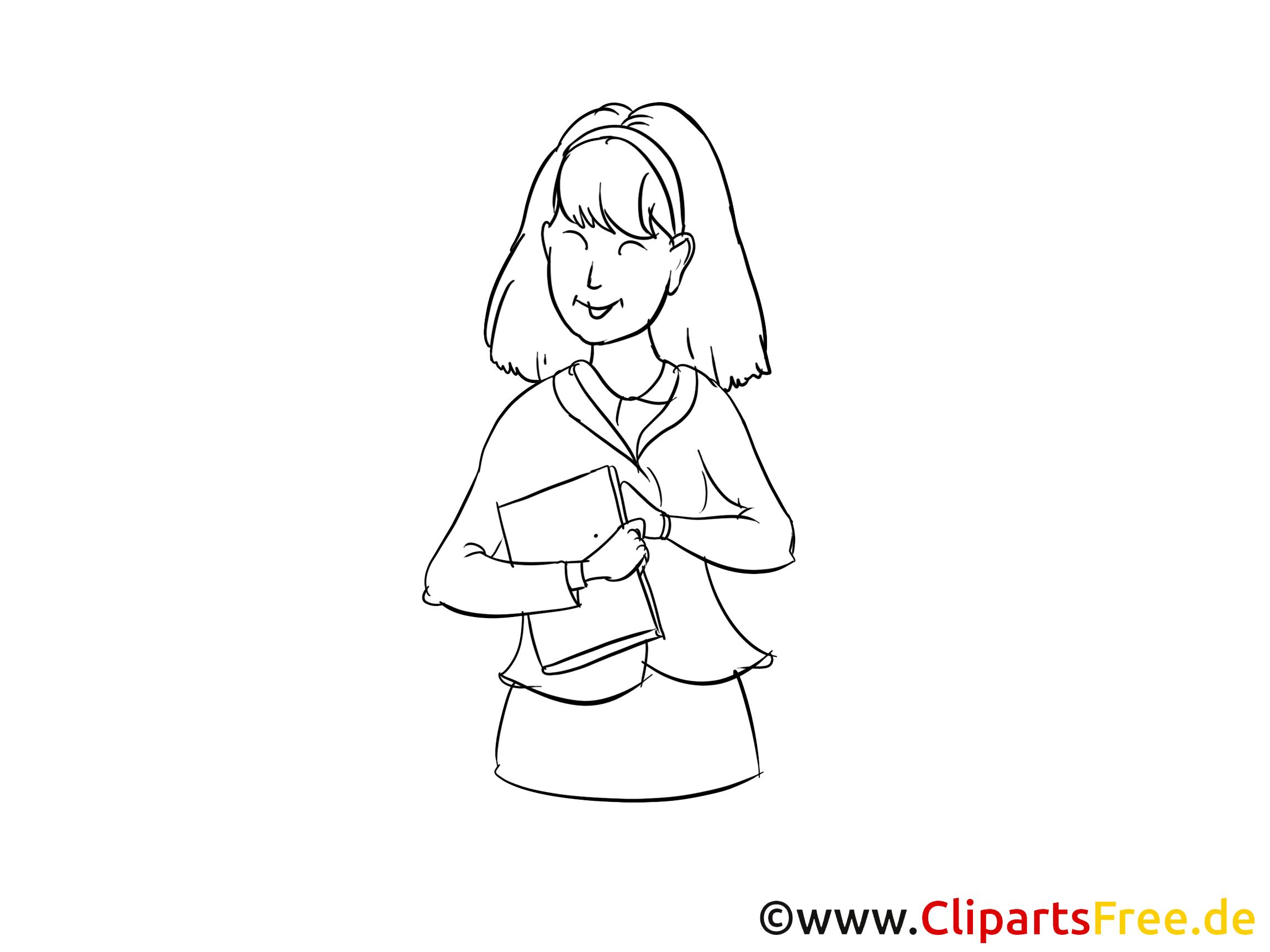 Attraktive Frau Clipart, Bild, Zeichnung