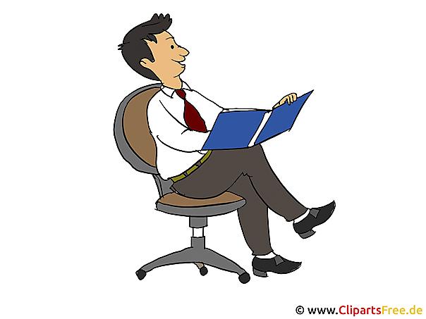Bilder zur Arbeit - Mann im Sessel