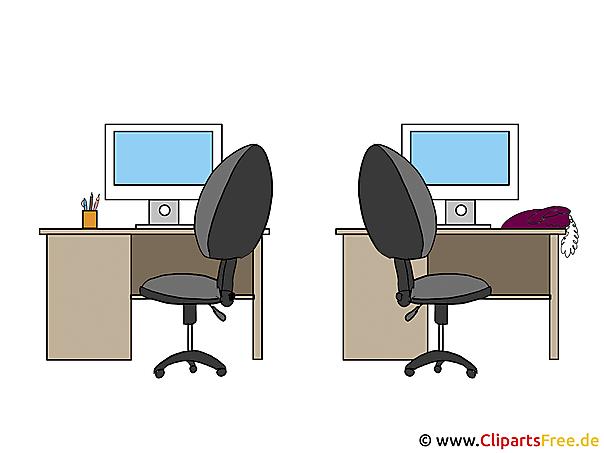 Büromöbel Clipart