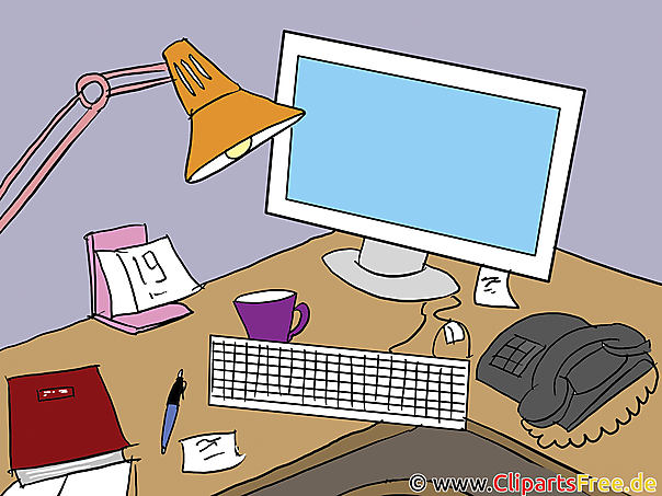 Schreibtisch clipart  Office Clipart download Bilder, Cliparts, Cartoons, Grafiken ...