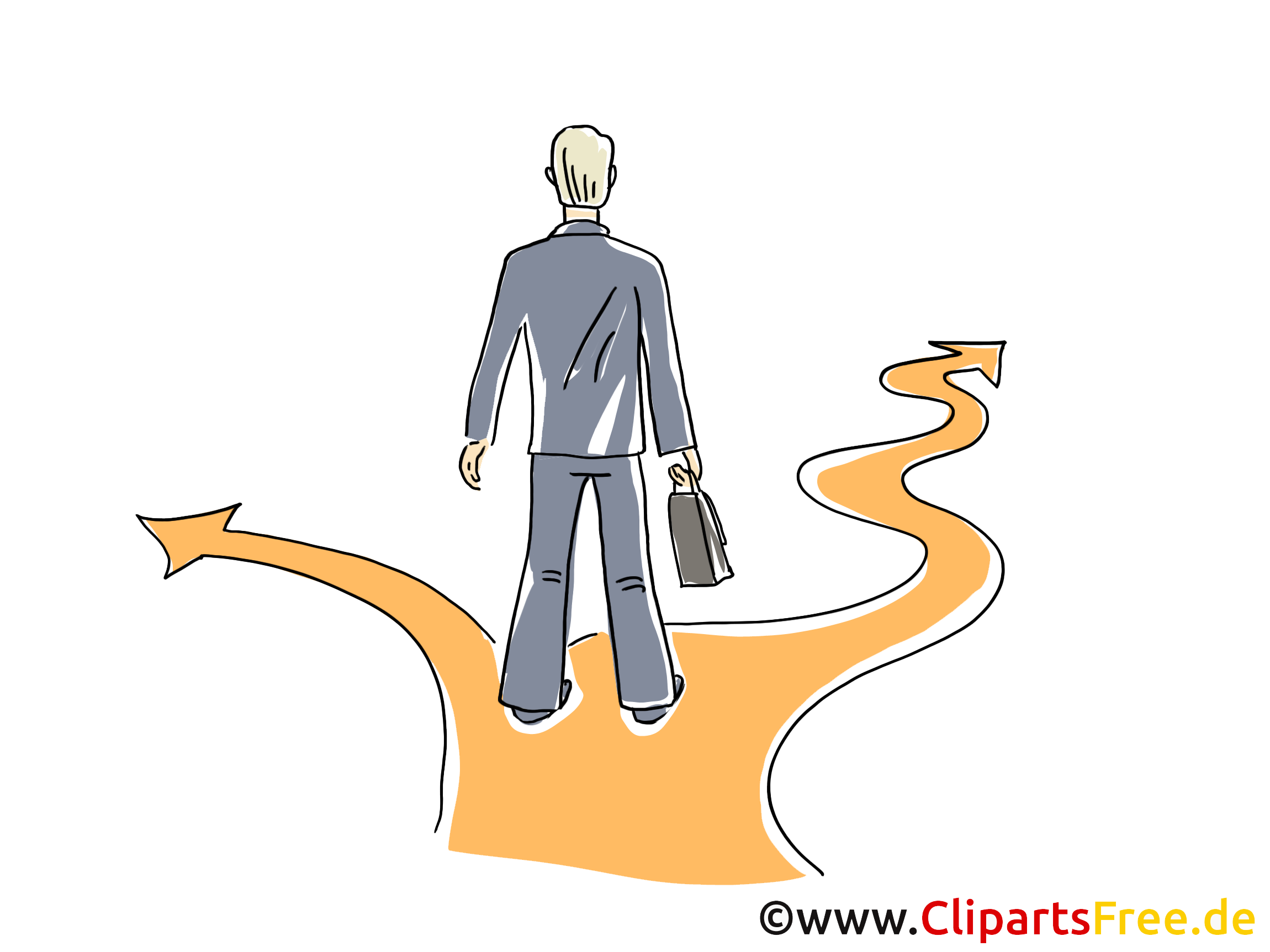 Entscheidung treffen Clipart, Grafik, Bild, Cartoon