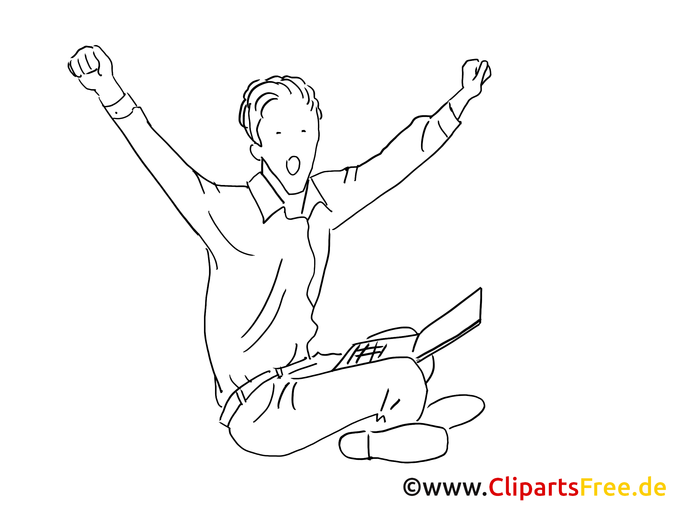 Erfolg Clipart schwarz-weiss