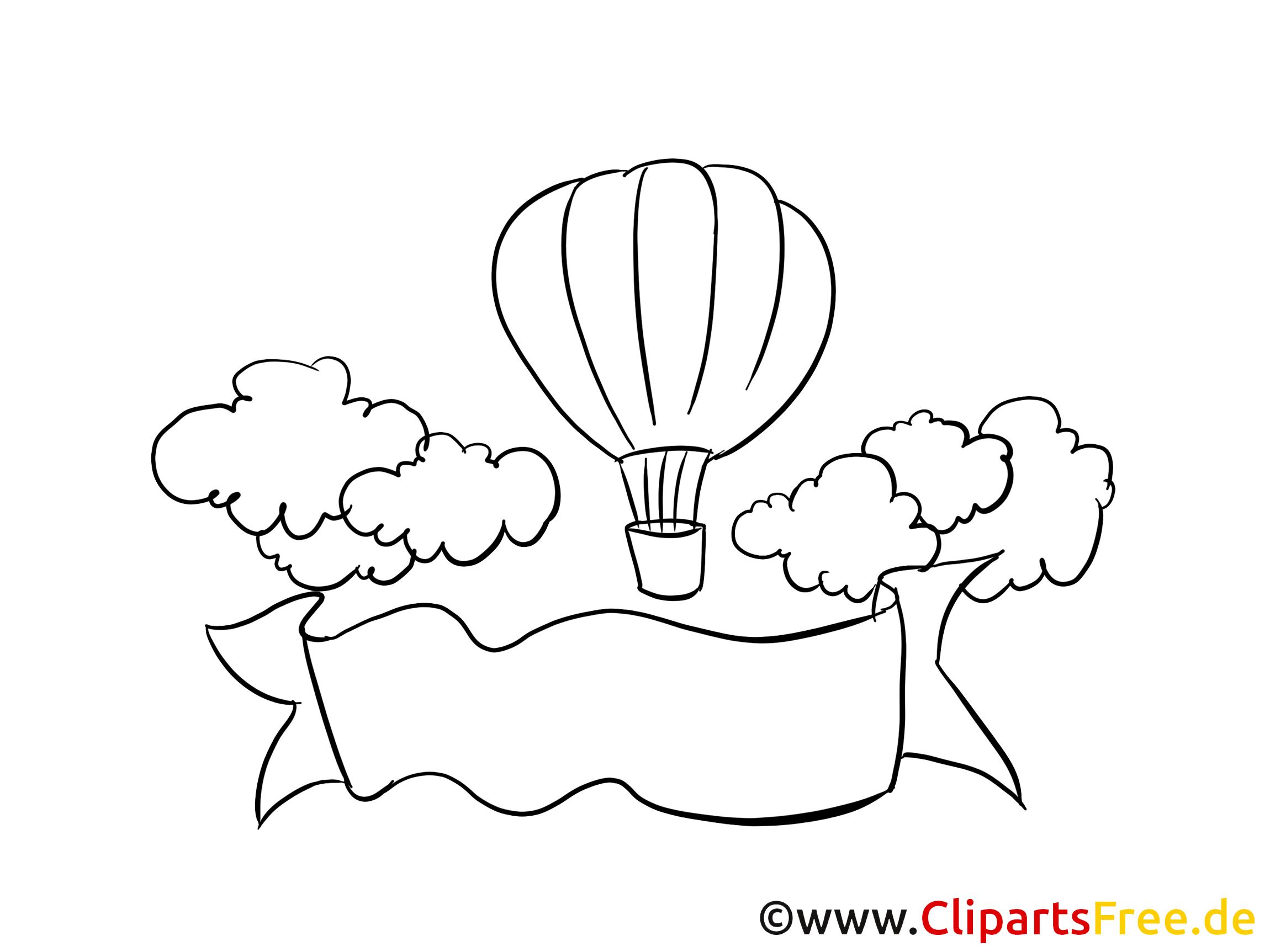 Flug Mit Luftballon Clipart Bild Zeichnung