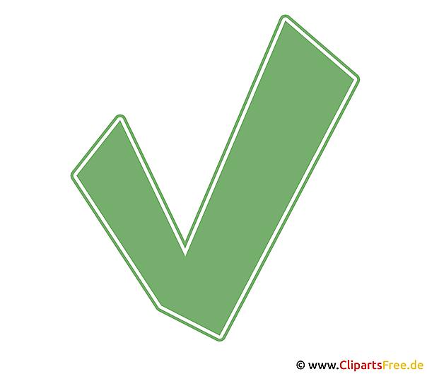 Grüner Haken Clip Art