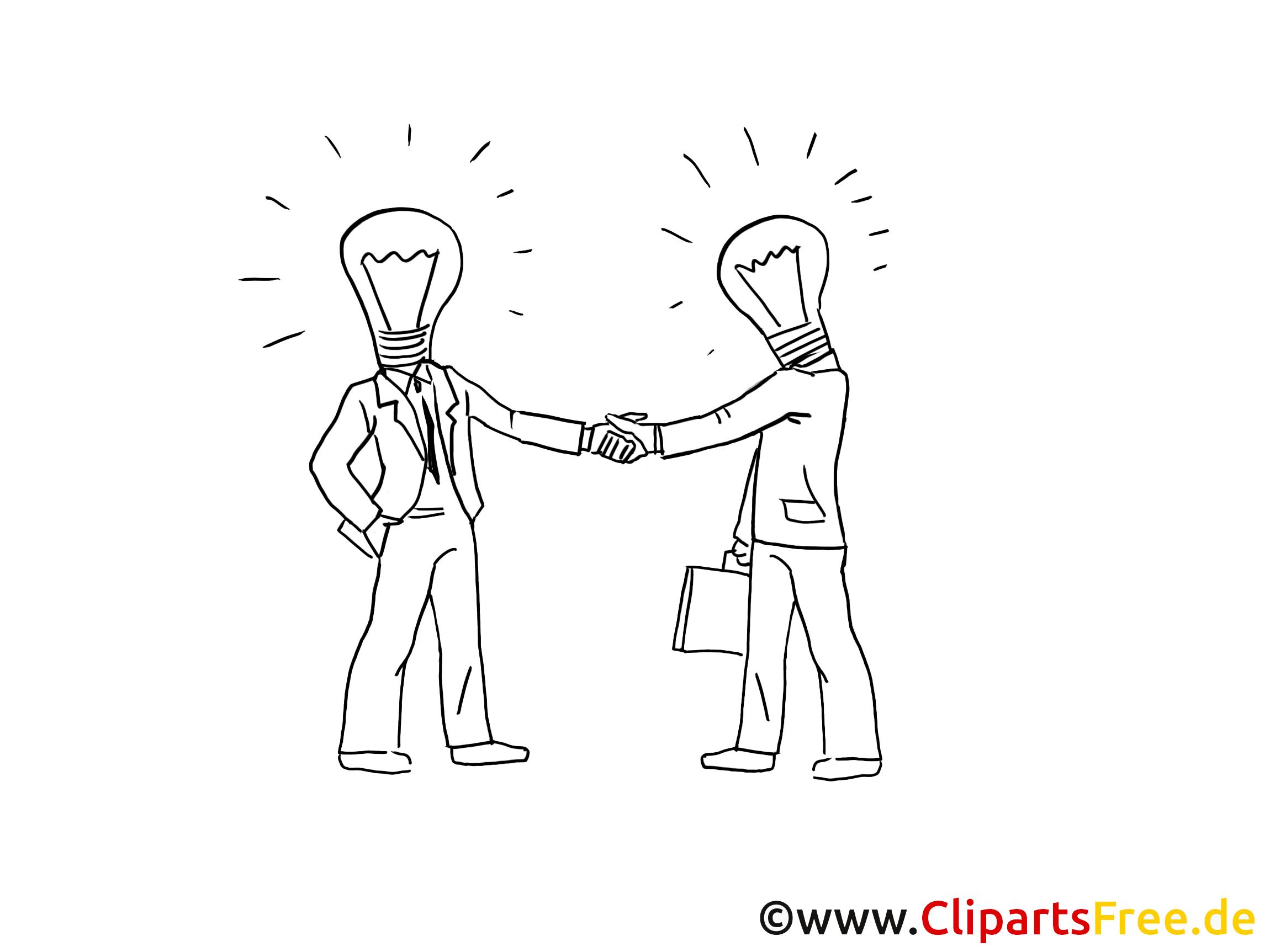 Ideenfindung Cliparts schwarz-weiss