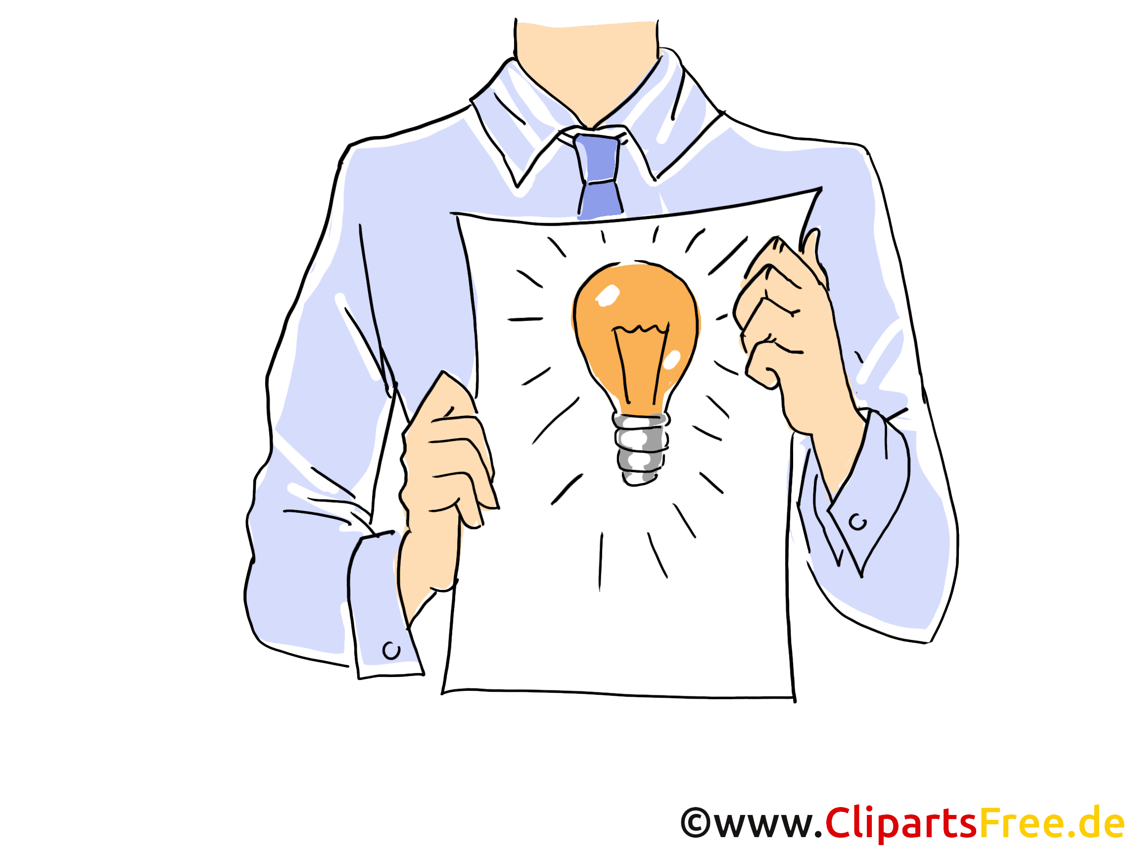 Ideenmanagement Clipart, Grafik, Bild, Cartoon