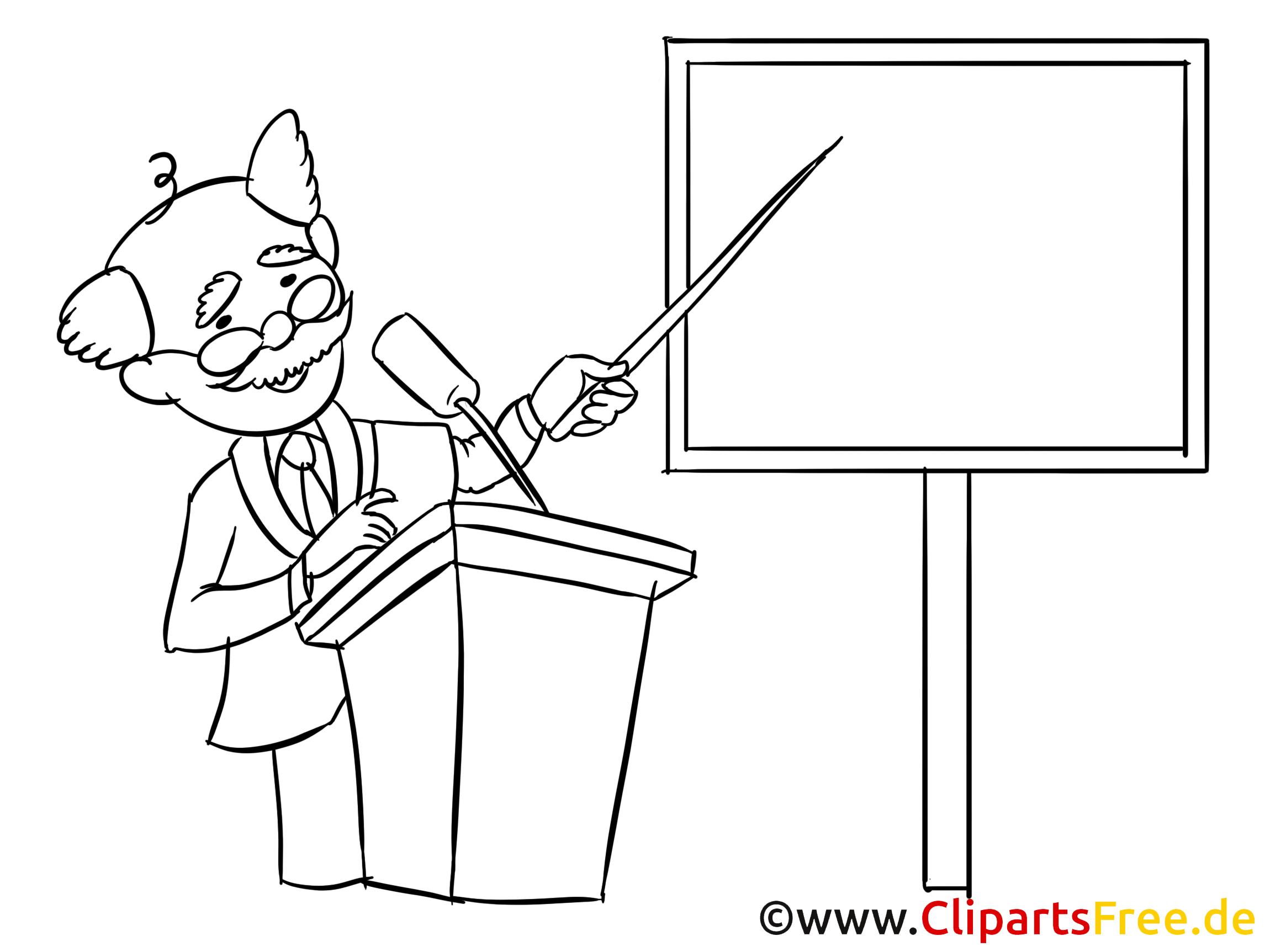Instructor Clipart, Bild, Zeichnung, Cartoon