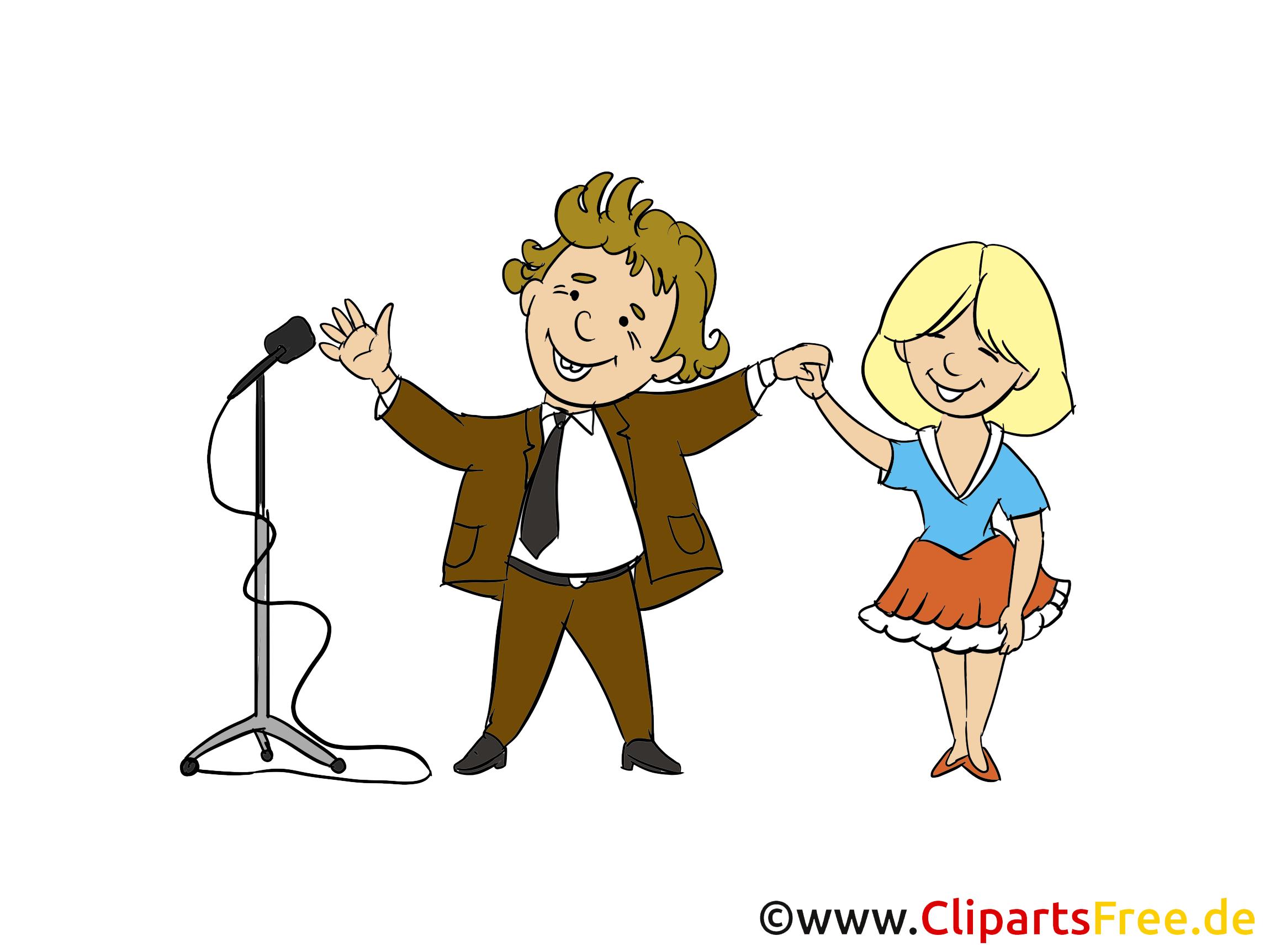 Konzert Bild, Clipart, Cartoon, Illustration