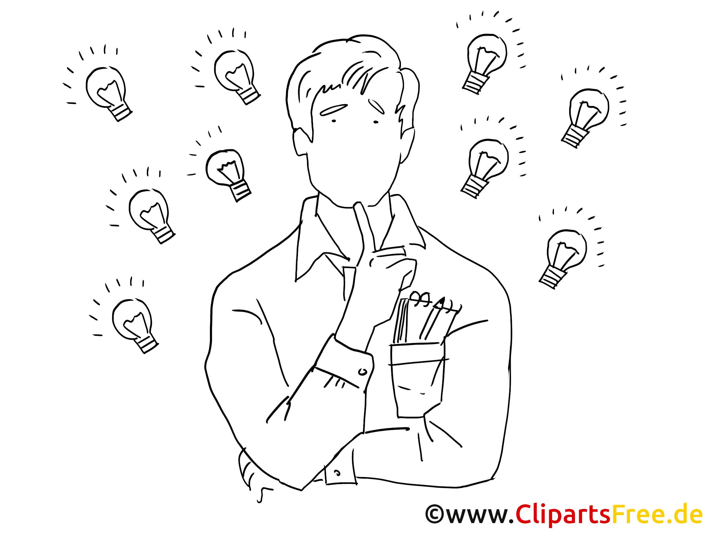 Schule clipart schwarz weiß  Kreative Person Clipart schwarz-weiss