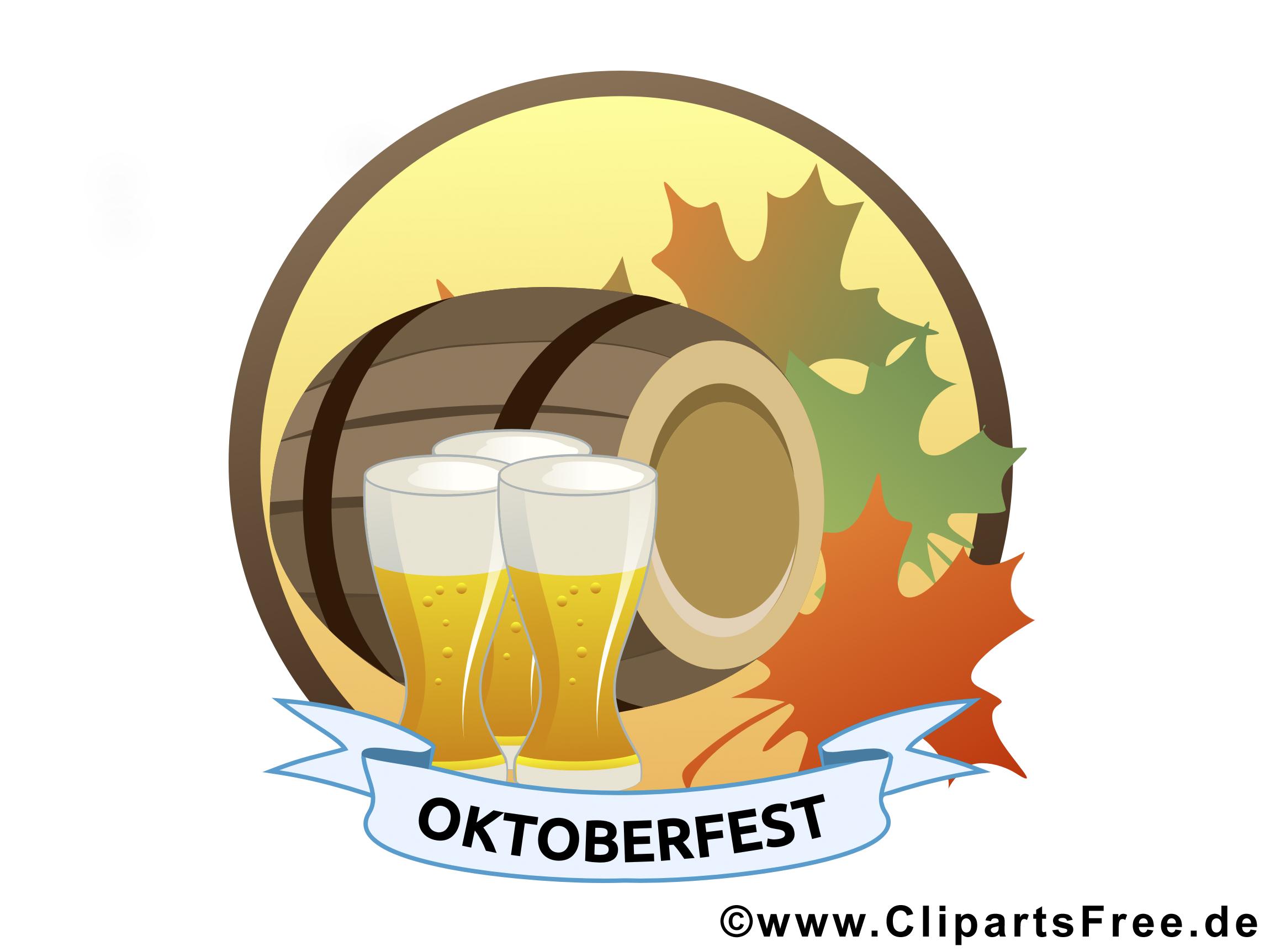 Darmowa grafika, kliparty Oktoberfest, piwo