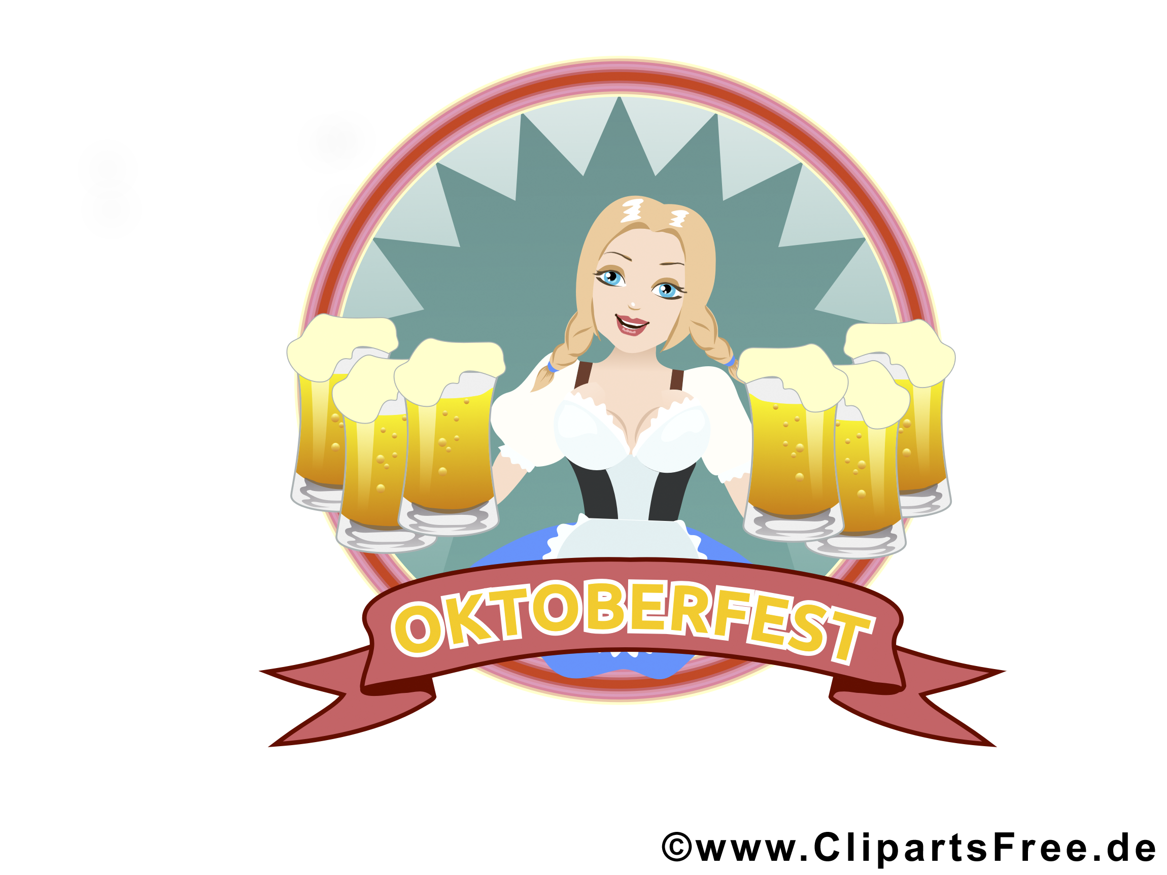 Kelnerka z piwem Oktoberfest zdjęcia bedava