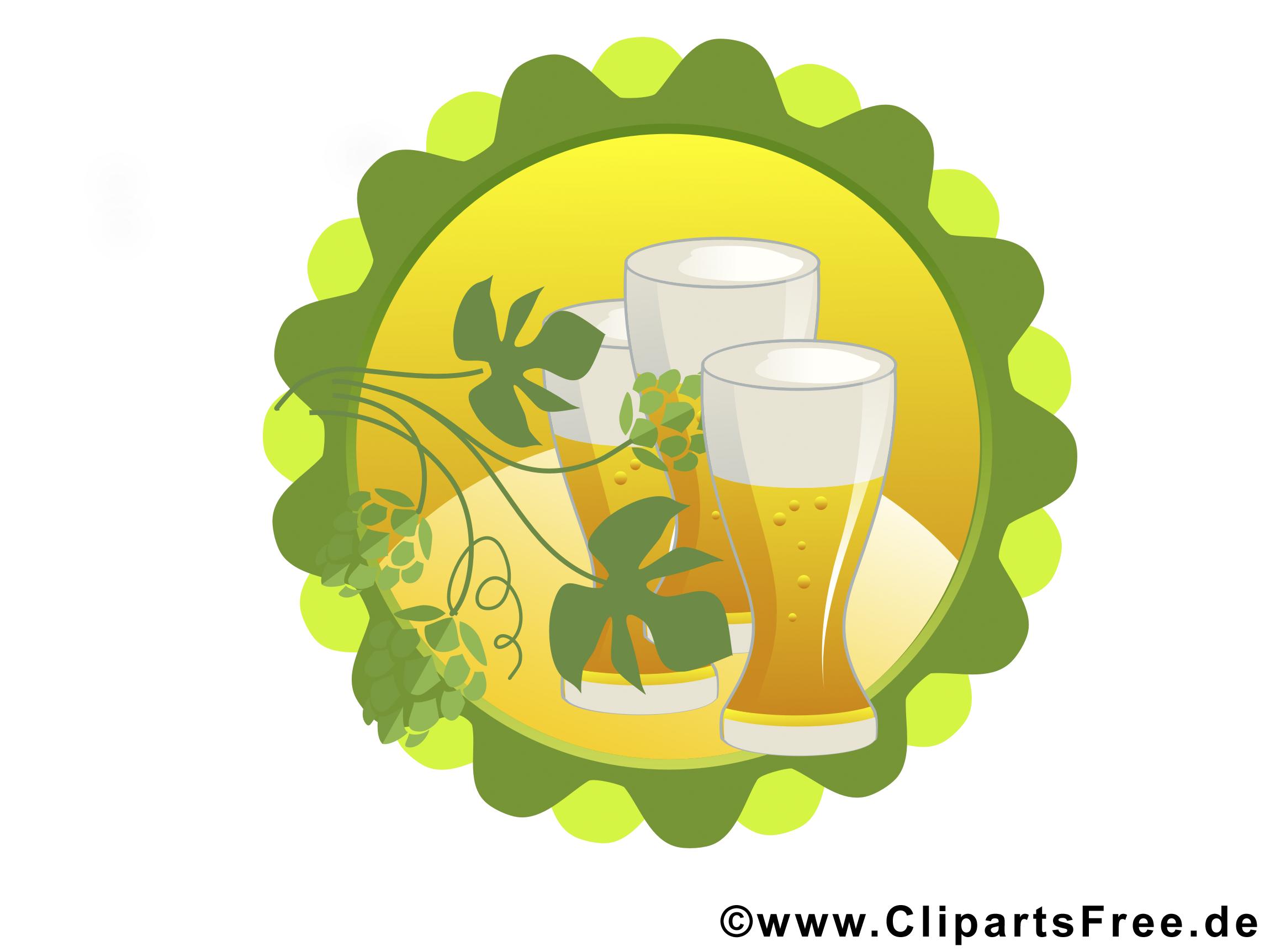 Клипарты, Графика Бокалы пива на Октоберфест