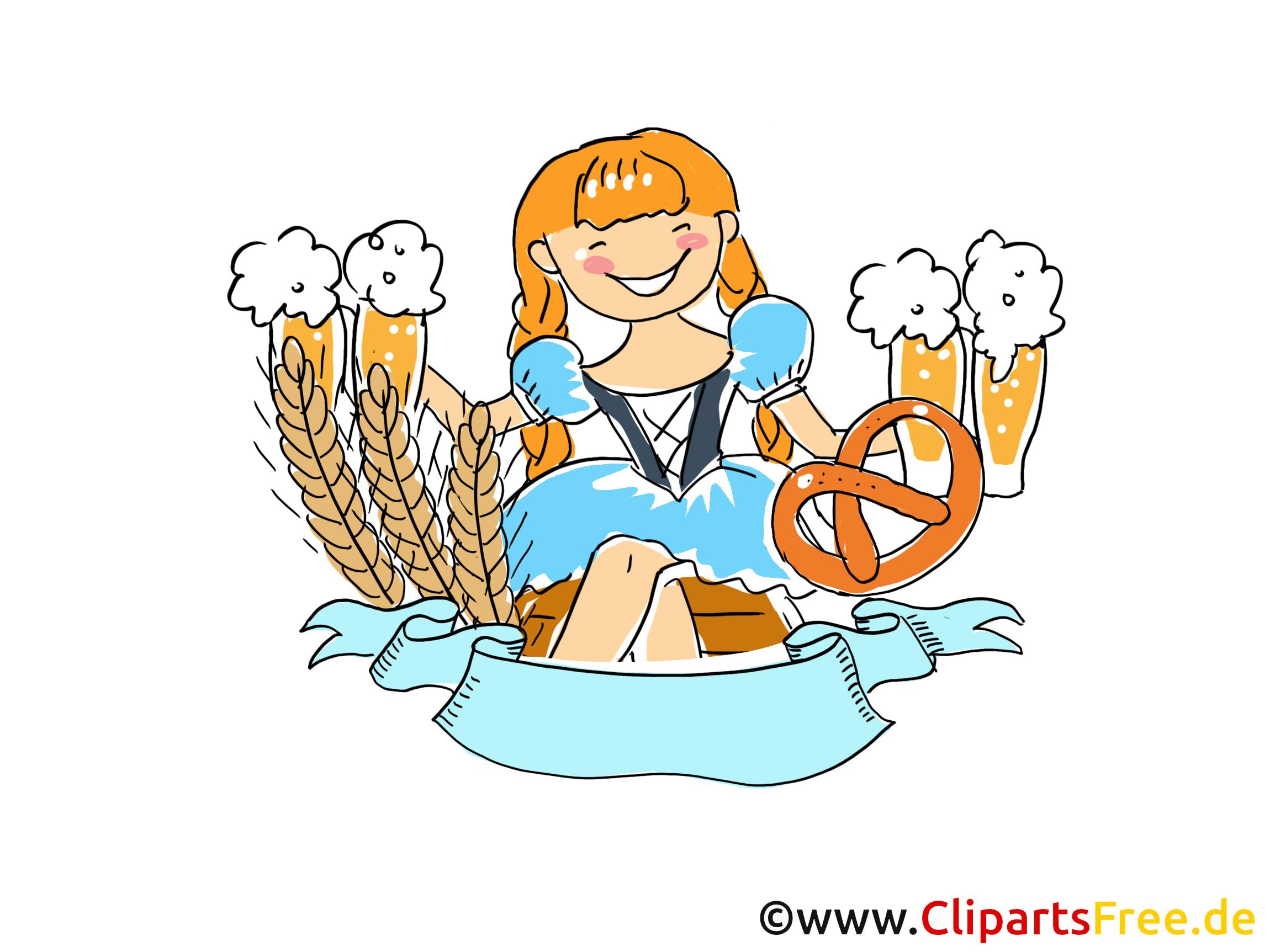 Oktoberfest in München Clipart, Bild, Grafik, Illustration, Comic, Cartoon gratis