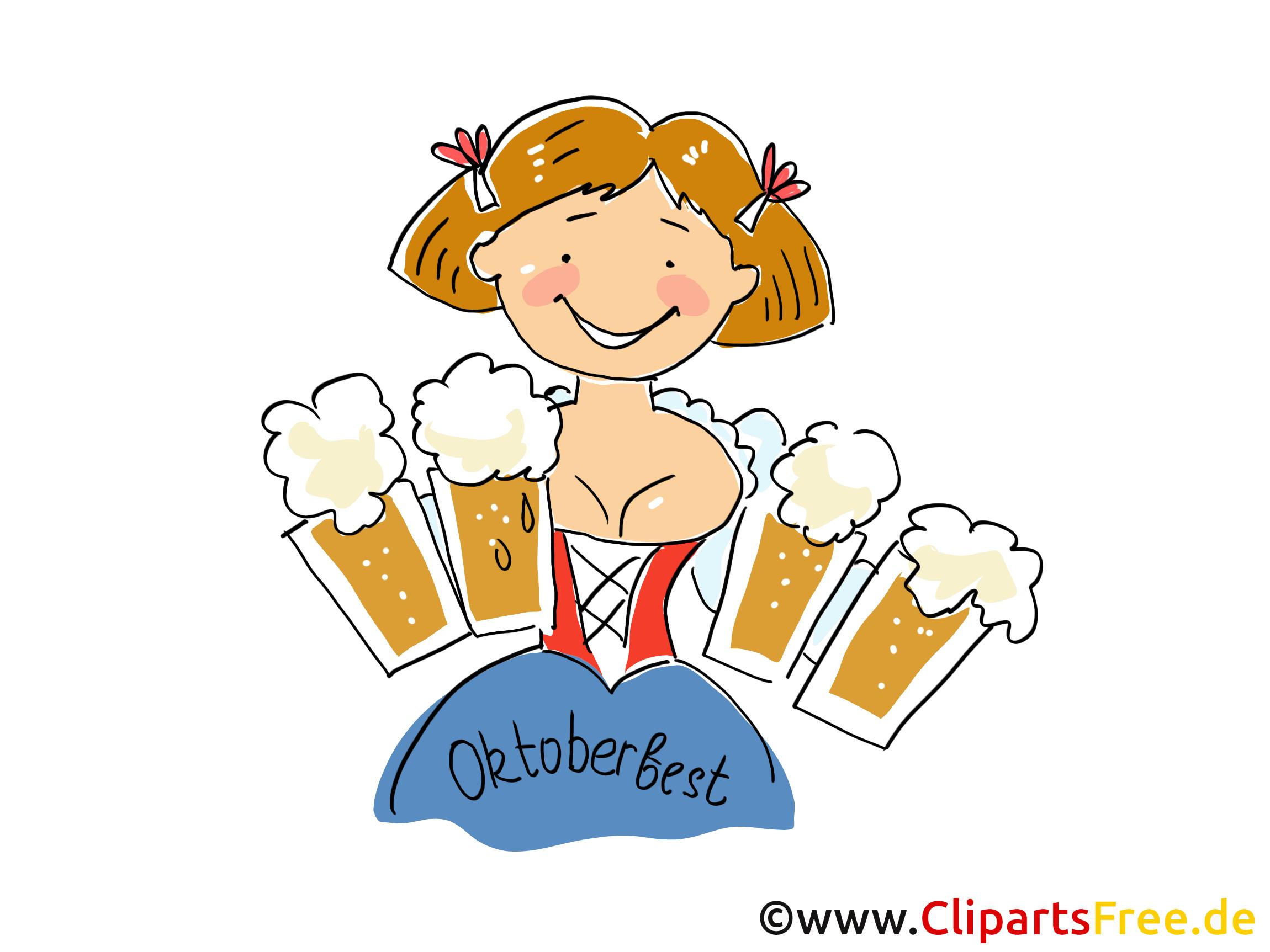 Büro frau clipart kostenlos  Schöne Oktoberfest Frau mit Bier Clipart, Bild, Grafik ...