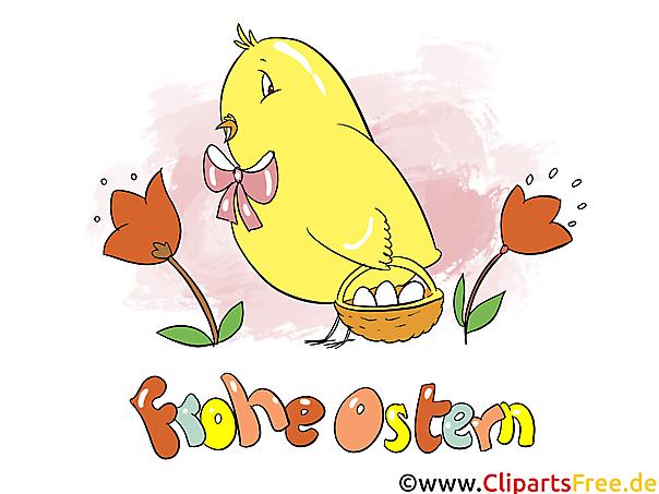 Bild Ostern mit dem gelben Küken
