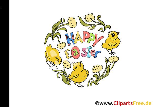 Blumeen Ranken zu Ostern Bild, Clipart, Grafik