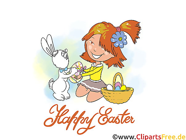 eCard Happy Easter Illustration, Pic, Image, Clip Art gratis