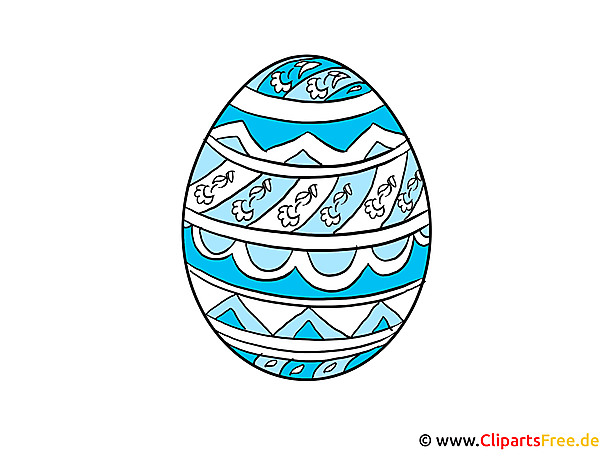 Ei zu Ostern Clipart, Bild, Grafik, Illustration