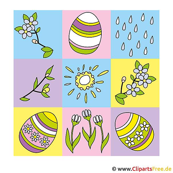 Happy Easter-foto's, grafische weergaven, eCards, tekenfilms, strips
