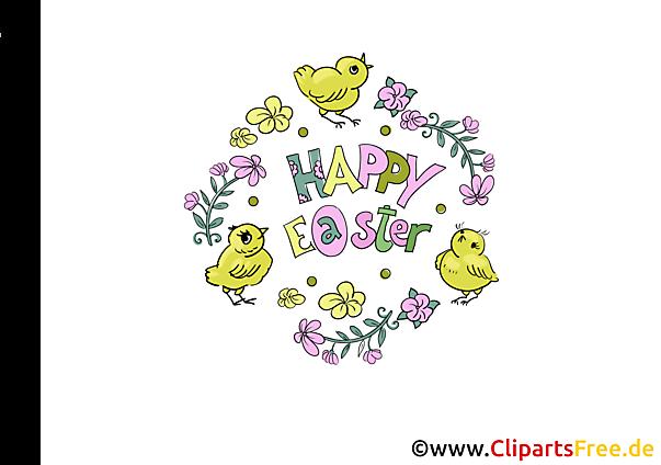 Kostenloses Clipart zu Ostern